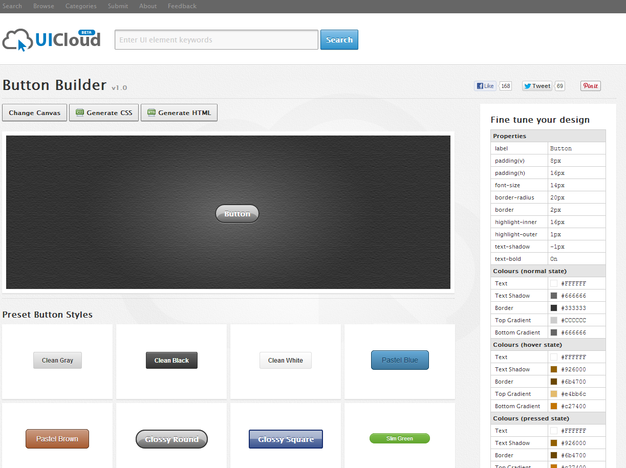 Button Builder UiCloud