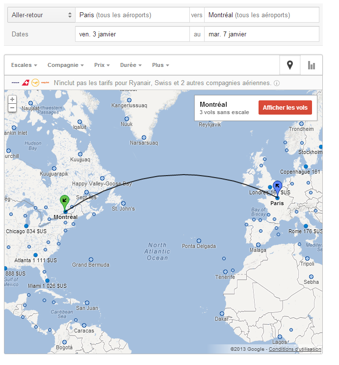google flights arrive en france horizon du web. Black Bedroom Furniture Sets. Home Design Ideas