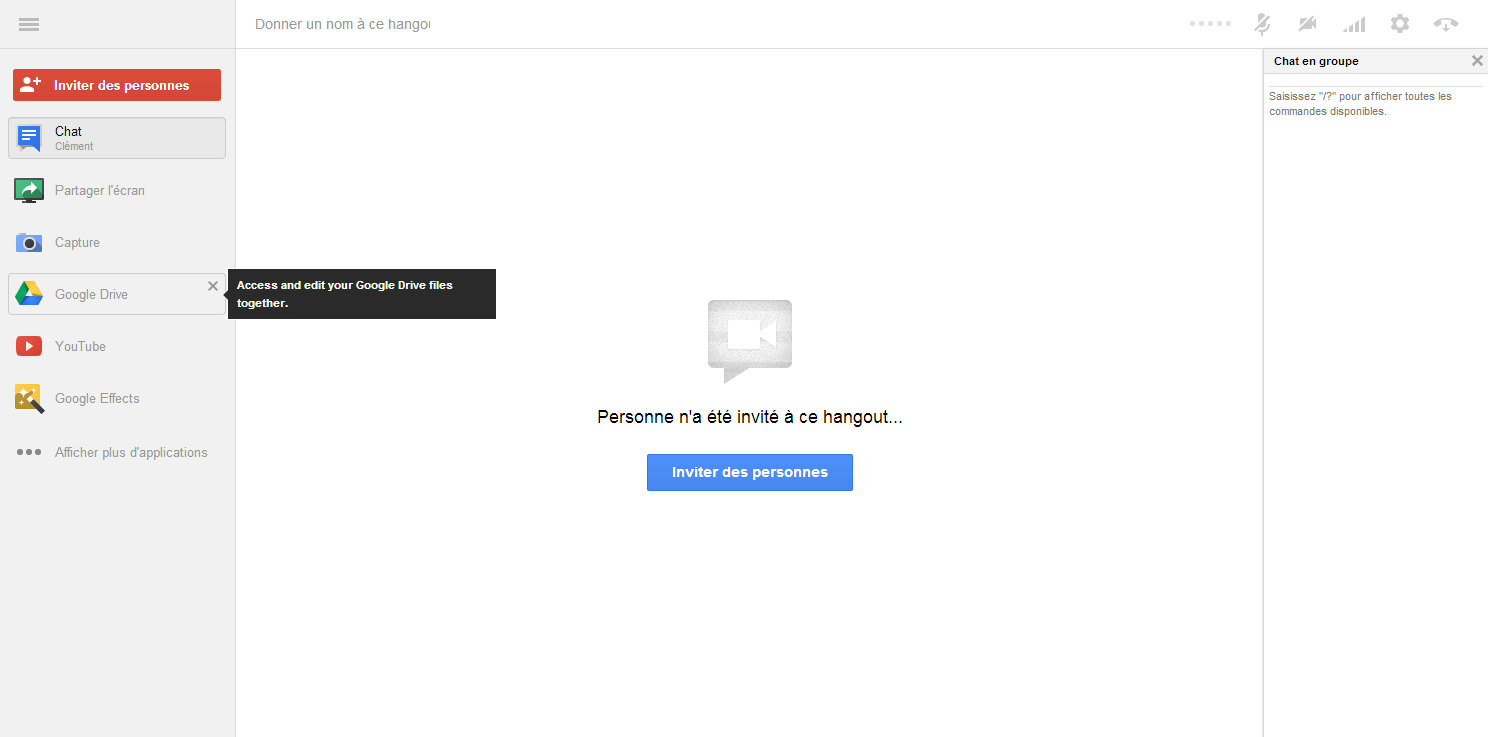 Hangout Google Docs