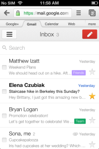 Nouvelle interface Gmail Offline et Mobile