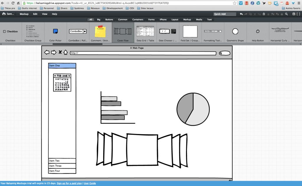 Balsamiq Mockup Interface
