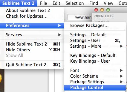 Sublime Text - Package Control