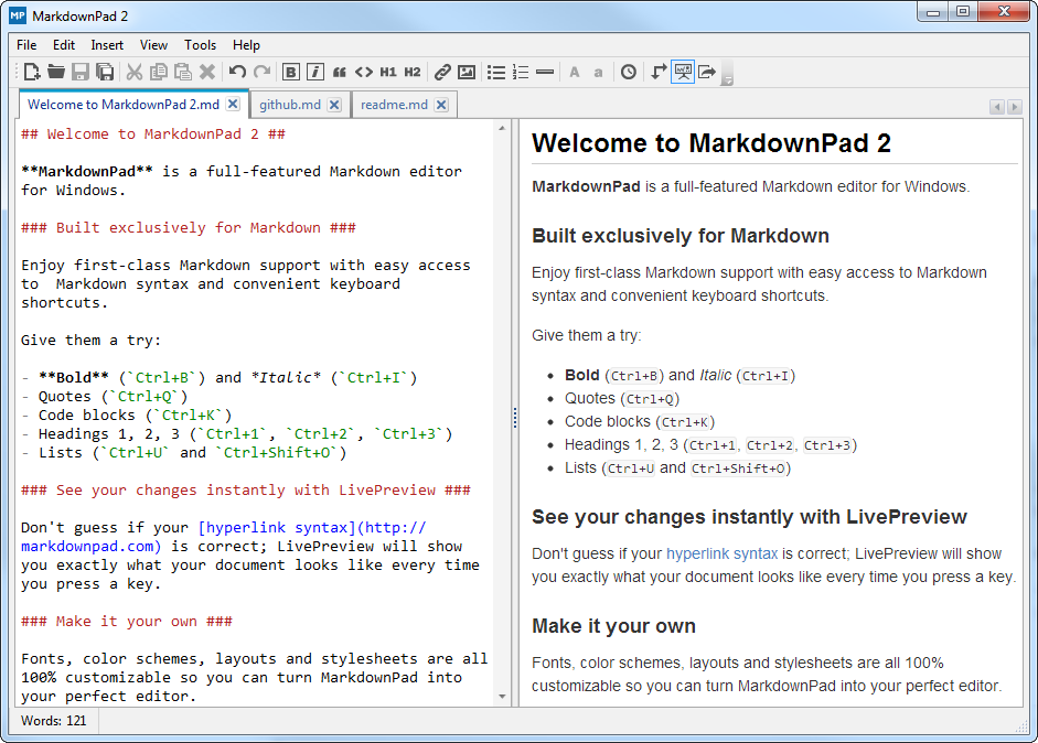 environnement-markdownpad