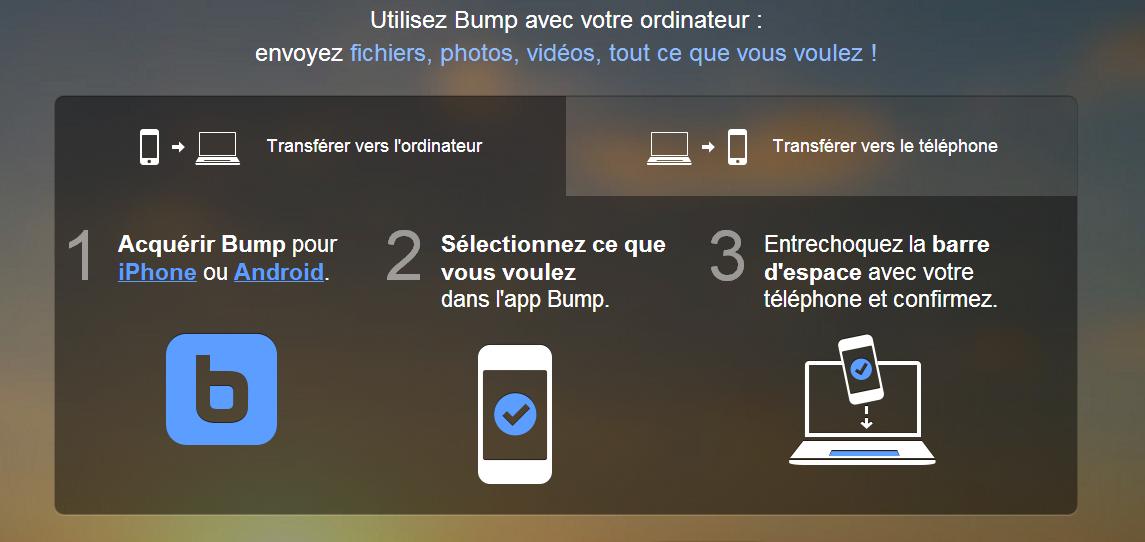 Bump fonctionne également avec votre PC