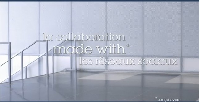 La collaboration made with le social business. Made with IBM